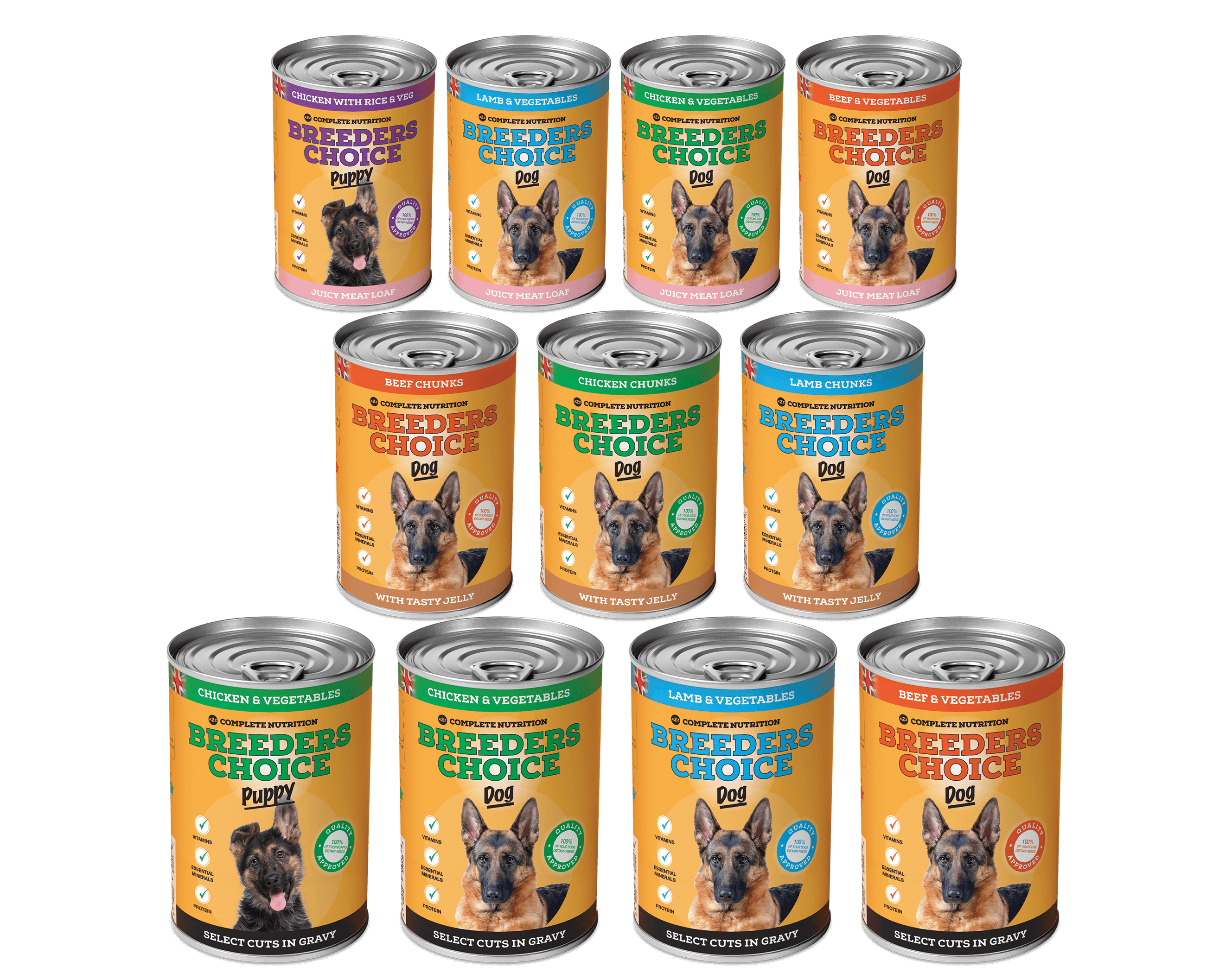 Breeders Choice - Natural Wet Dog Food and Puppy Food Range